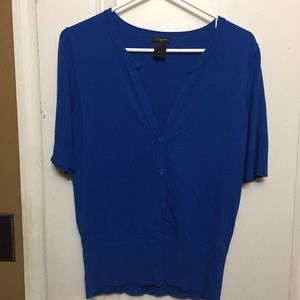 Ann Taylor Button down Royal Blue Cardigan